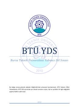 Bursa Teknik Üniversitesi Yabancı Dil Sınavı