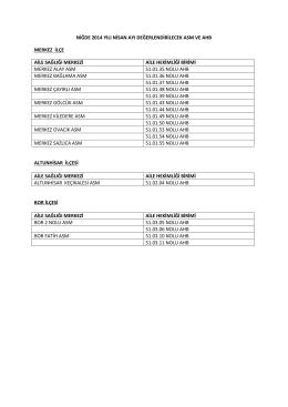 2014 nisan ayı asm ve ahb değerlendirme programı