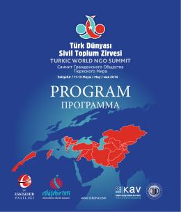 Программа - türk dünyası sivil toplum zirvesi