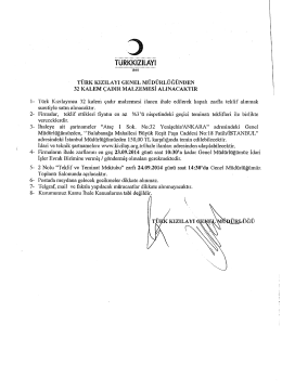 koordinatörlüğü - Ankara Ticaret Odası