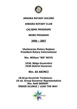 Rtn. Ali AKINCI - Ankara Rotary Kulübü