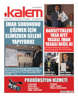 Kalem Gazetesi 47. Sayı