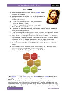 aöf- Yaşayan Dünya Dinleri- kitap özeti