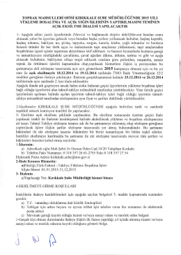 TOPRAK MAHSULLER1 OFISi KIRIKKALE SUBE