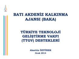 türkiye teknoloji geliştirme vakfı destekleri (ocak 2014)