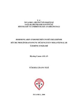 tc istanbul bilim üniversitesi sağlık bilimleri enstitüsü histoloji ve