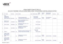 adana çimento sanayii türk a.ş. 28.03.2014 tarihinde
