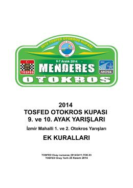 2014 TOSFED OTOKROS KUPASI 9. ve 10. AYAK YARIŞLARI EK