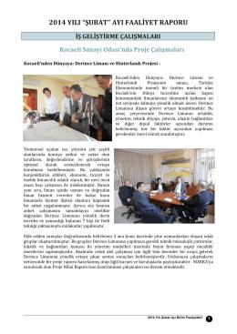 Şubat 2014 Faaliyet Raporu İndir