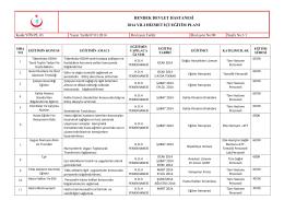 HDH Eğitim PROGRAMI 2014 - Hendek Devlet Hastanesi