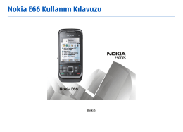 Nokia E66 Kullanım Kılavuzu