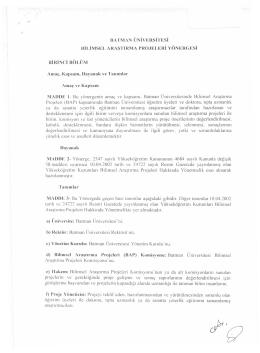 batman üniversitesi bilimsel araştırma projeleri yönergesi 4,36 mb pdf