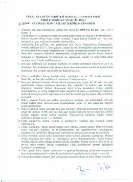 5. grup teknik şartnamesi - Celal Bayar Üniversitesi