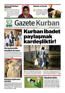 Kurban Gazetesi 2014 - İHH İnsani Yardım Vakfı