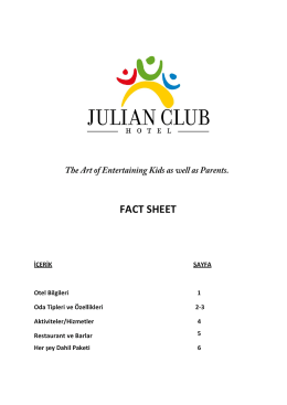 FACT SHEET - Julian Hotels