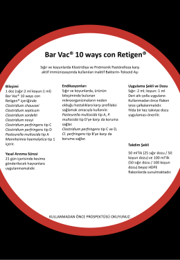 Bar Vac® 10 ways con Retigen - Boehringer Ingelheim Türkiye