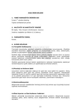 kısa ürün bilgisi - Vademecum Online