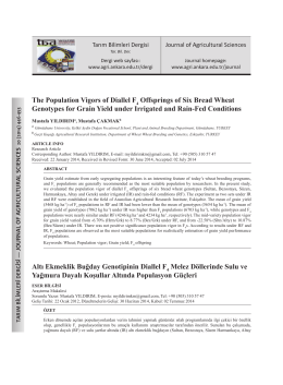 The Population Vigors of Diallel F Offsprings of Six Bread Wheat