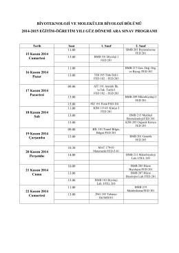 dosyalar/2014-2015 Güz Ara Sınav Programı