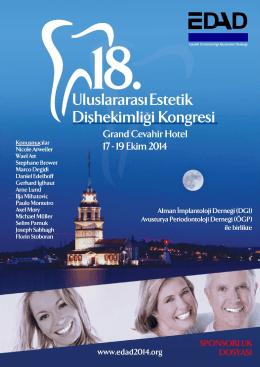 sponsorluk seçenekleri - 18. Uluslararası Estetik Dişhekimliği Kongresi