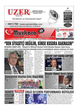"""""""BEN SİYASETÇİ DEĞİLİM, KİMSE KUSURA BAKMASIN"""""""