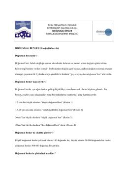 Doğumsal Benler - Türk Dermatoloji Derneği