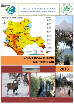 konya doğa turizmi master planı - Orman ve Su İşleri 8. Bölge