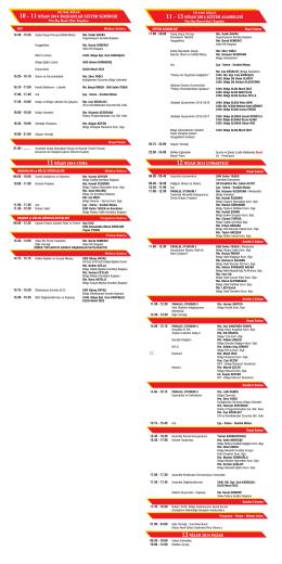 10 - 11NİSAN 2014 BAŞKANLAR EĞİTİM SEMİNERİ 11