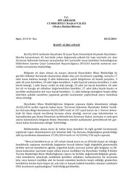 02.12.2014 tarihli basın açıklaması