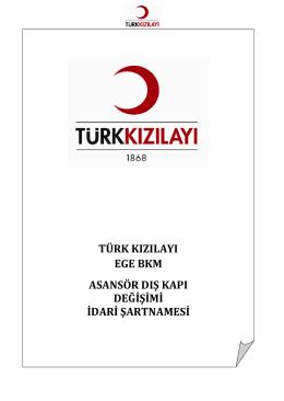 idari şartname - Türk Kızılayı