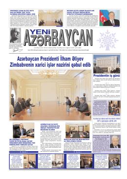 Азярбайъан Президенти Илщам Ялийев Зимбабвенин хариъи