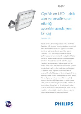 Product Familiy Leaflet: OptiVision LED