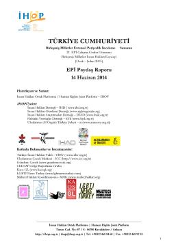 EPİ Paydaş Raporu - İnsan Hakları Ortak Platformu