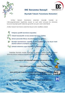 IDC Savunma Sanayii - Biyolojik Ajan Tespit Sistemi