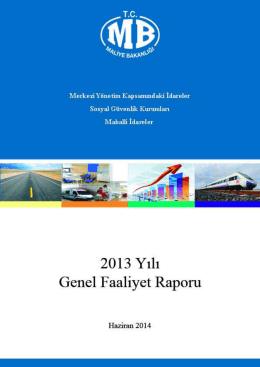 Genel Faaliyet Raporu 2013