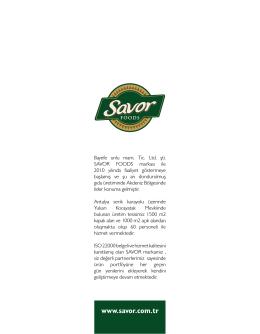 e-katalog - Savor Foods