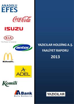 Faaliyet Raporu Aralık 2013