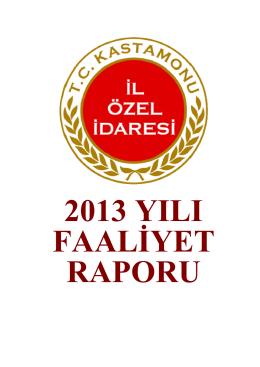 2-) 2013 Yılı Faaliyet Raporu