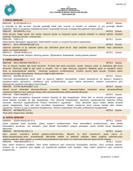 Kısa Ders İçerikleri - Niğde Üniversitesi