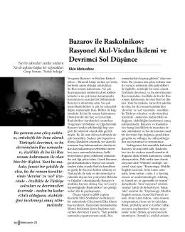 Bazarov ile Raskolnikov: Rasyonel Akıl-Vicdan