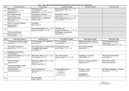 2014-2015 Güz İşletme Final Programı İmzalı