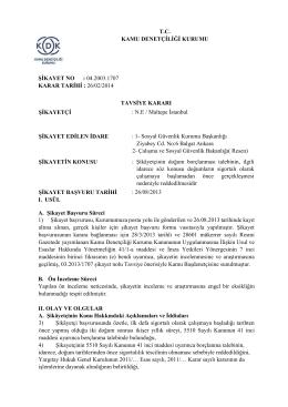 tc kamu denetçiliği kurumu şikayet no : 04.2003.1707 karar tarihi