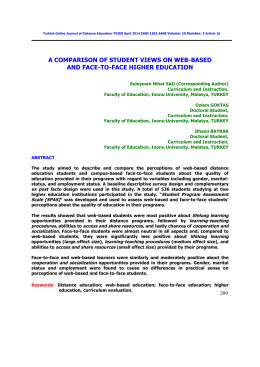 a comparison of student views on web-based and face-to