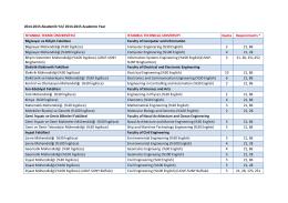 2014-2015 Akademik Yılı/ 2014-2015 Academic Year İSTANBUL