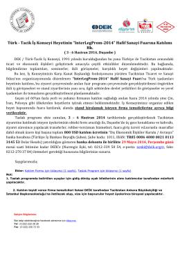 "Türk - Tacik İş Konseyi Heyetinin ""InterLegProm"