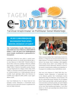 e-bülten 2014/1 - TC Gıda Tarım ve Hayvancılık Bakanlığı