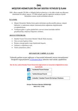 müşteri hizmetleri ön saf destek yetkilisi iş ilanı
