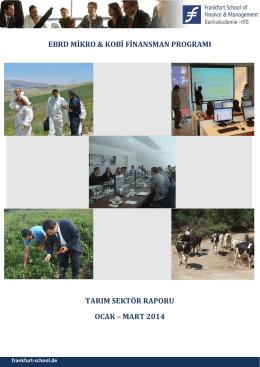 Tarım Sektör Raporu Ocak - Turkey MSME Finance Facility