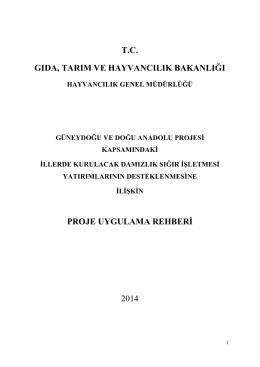 GAP-DAP Uygulama Rehberi (2014)