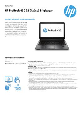 HP ProBook 430 G2 Dizüstü Bilgisayar